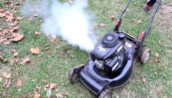 Lawn Mower White Smoke Then Dies: How to Fix it?