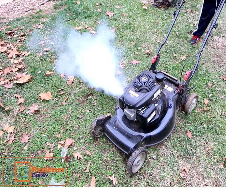 Lawn Mower White Smoke